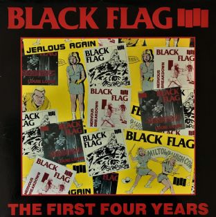 Black Flag ‎- The First Four Years (LP) (EX/EX)